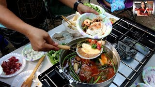 Download Cambodian food-យ៉ៅហន The Best Hot Pot Soup/Yao Hon At Camping!!! Video