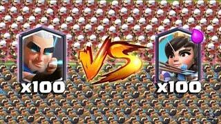Download ¡¡100 ARQUEROS MÁGICOS vs 100 PRINCESAS!! ¿QUIÉN GANARÁ? Enfrentamientos Clash Royale - [Rubikay] Video