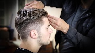 Download College Haircut For Guys | Thick Wavy Combed Back Haircut Tutorial | MATT BECK VLOG 63 Video