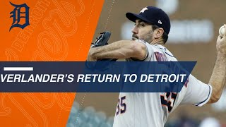Download Justin Verlander honored by Detroit, strikes out 10 in win Video