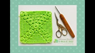Download GRANNY SQUARE o cuadrado de la abuelita a crochet - La Magia del Crochet- Video