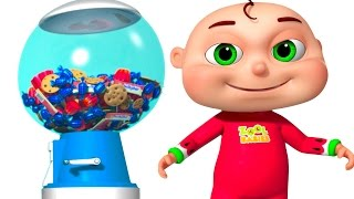 Download Five Little Babies Playing Ball Machine | Zool Babies Fun Songs | Surprise Ball Machine For Kids Video