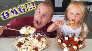 Download ULTIMATE Ice Cream Sundae Challenge With My Dad for His Birthday!!! Video