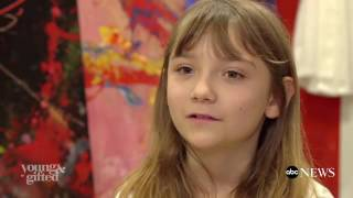 Download 9-Year-Old Abstract Painter Aelita Andre Opens Solo Show in Famed Museum Video