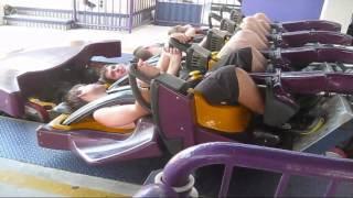 Download Batwing off-ride   Six Flags America Video