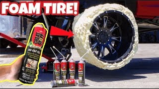 Download MAKING A TIRE ONLY USING FOAM INSULATION SPRAY! WILL IT WORK? Video