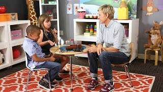 Download Ellen Introduces Kids to the Technology of Yesterday Video