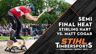 Download SEMI FINAL Hart vs Cogar // Kungsbacka (SWE) 2019 // STIHL TIMBERSPORTS® Champions Trophy Video