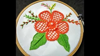 Download Hand Embroidery - Flower Embroidery | Raised chain Stitch Band | Fantasy Flower Embroidery Designs Video
