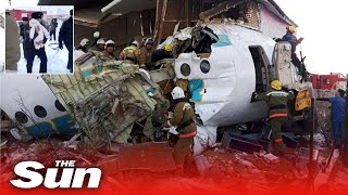 Download Kazakhstan Bek Air plane crashes carrying almost 100 people killing at least a dozen people Video