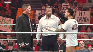 Download Raw - CM Punk describes his conspiracy theory to WWE COO Triple H Video