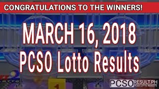 Download PCSO Lotto Results Today March 16, 2018 (6/58, 6/45, 4D, Swertres, STL & EZ2) Video