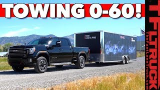 Download We Tow 14,000 lbs With the 2020 GMC Sierra HD AT4 Off-Road Truck - But What SURPRISE Are We Towing? Video