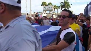 Download Little Havana celebrates the death of Fidel Castro Video