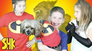Download Noah is a Werewolf! The Incredibles Super Speed Suit Gets Shredded Video