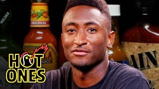 Download Marques Brownlee Ranks Hot Sauce Labels While Eating Spicy Wings | Hot Ones Video