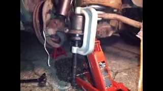 Download How To Use a Ball Joint Press Tool / Install , press in lower ball joint , remove truck dodge chevy Video