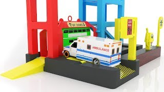 Download Learn Color for kids with Street Vehicles Parking Garage Toy - Colours for Children Learning Videos Video