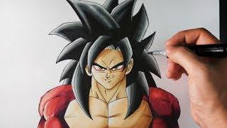 Download Cómo Dibujar a Goku SSJ4 paso a paso | Dragon Ball GT | ArteMaster Video