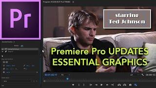 Download E40 - NEW UPDATE: Essentials Graphics - Adobe Premiere Pro CC 2017 Video