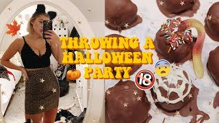 Download THROWING A HALLOWEEN PARTY! Baking, Decorations & More! vlog Video