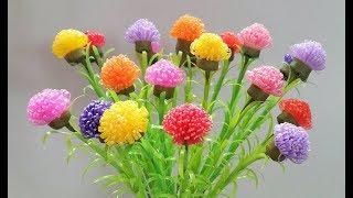 Download ดอกไม้จากหลอด ดอกคุณนายตื่นสายจากหลอด by มายมิ้นท์ STRAW FLOWER Video