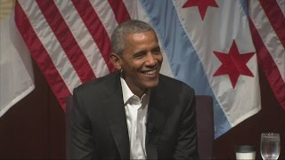 Download Barack Obama opens his first post-presidential event with a joke Video
