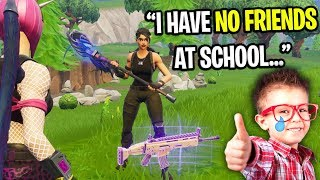 Download NICEST KID ON FORTNITE CAN'T MAKE ANY FRIENDS AT SCHOOL! (HE GAVE ME A SCAR) Video