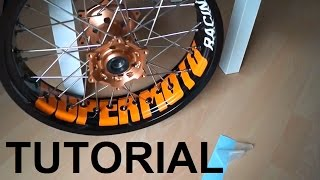 Download Felgenaufkleber anbringen KTM LC4 SMC EXC Supermoto Felgen (Tutorial) wheelsticker Video