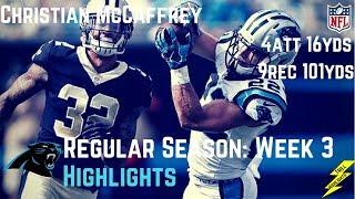 Download Christian McCaffrey Week 3 Regular Season Highlights 9 Catches! | 9/24/2017 Video