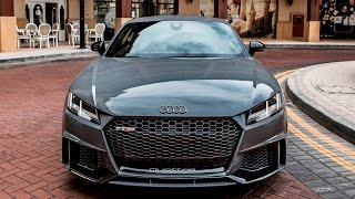 Download 2017 new Audi TT-RS Coupé (400hp, 5cyl, Nardo gray) - Launch control, driving, exterior, interior Video