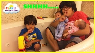 Download Kid Plays Hide N Seek with Twins baby sisters! Family Fun Playtime with Ryan's Family Review Video