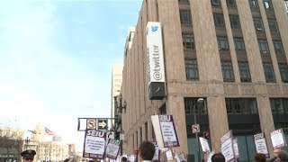 Download Labor Marches on Twitter Headquarters: ″No Tax Breaks for Tech Companies″ Video