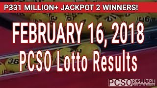 Download PCSO Lotto Results Today February 16, 2018 (6/58, 6/45, 4D, Swertres, STL & EZ2) Video