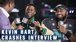 Download Kevin Hart Crashes Fletcher Cox's Post Super Bowl LII Interview... And It's Hilarious! Video