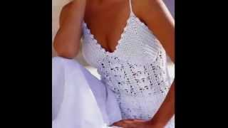 Download Top Blanco Con Tirantes a Crochet Video