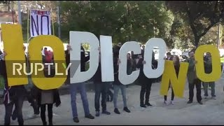 Download Italy: Beppe Grillo leads protest in anti-referendum rally Video