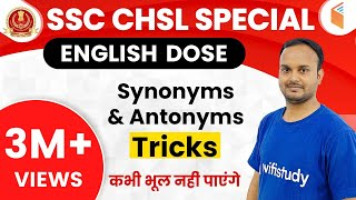 Download 4:00 PM ENGLISH DOSE by Sanjeev Sir | अब CHSL दूर नहीं Live Sessions I Synonyms/Antonyms (Day #05) Video