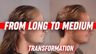 Download Medium Long Hairstyle | Mens Hair Transformation | SlikhaarTV Video