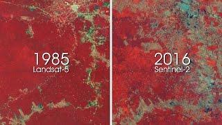 Download ESA shows 30 years of deforestation in Amazon rainforest Video