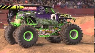 Download Grave Digger Freestyle Monster Jam World Finals XIV Video