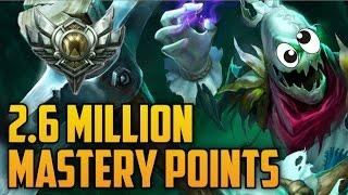 Download Support Silver FIDDLESTICKS 2,600,000 MASTERY POINTS- Spectate Highest Mastery Points on Fiddle Video