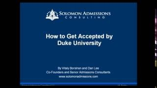 Download How to Gain Acceptance by Duke University Video
