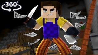 Download Hello Neighbor - 360° Minecraft Video (Hello Neighbor Minecraft Roleplay) Video