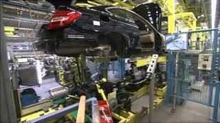 Download Production of the Mercedes-Benz C-Class at the plant in Bremen in Germany Video