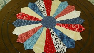 Download Red, White And Blue Dresden Plate Table Topper Video