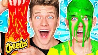 Download Mystery Wheel of Slime Challenge! *HOT CHEETOS SLIME* Learn How To Make DIY Switch Up Oobleck Food Video