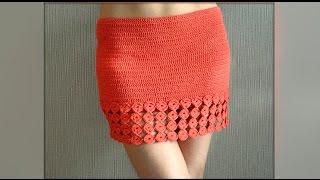 Download Как связать юбку крючком. How to chrochet a skirt hook Video