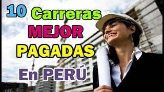 Download Top 10 Carreras UNIVERSITARIAS Mejor PAGADAS En Perú | Dato Curioso Video
