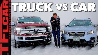 Download Truck or Car: What's Better in The Snow? Video